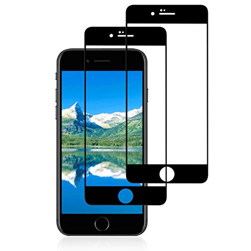 K-SLWX Panzerglas für iPhone 7 Plus/ 8 Plus, [3D Touch Kompatibel] 9H Härte Schutzfolie Displayschutzfolie, Schwarz Ultra Dünn Panzerglasfolie für iPhone 8 Plus/ 7 Plus