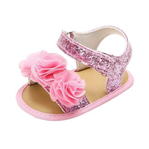 WanXingY Baby Girl Sandalias Zapatos de bebé Newborn Baby Zapatos Suave Bebé de Playa Sandalias de Verano Algodón Lindo Bebé Sandalias (Color : 13 18 Months, Size : Multi)