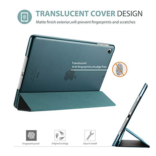 ProCase iPad Air Ultra Dünn Smart Hülle, Leichte Stand Schutzhülle Shell mit Translucent Frosted Rückhülle für Apple iPad Air (A1474 A1475 A1476) –Teal
