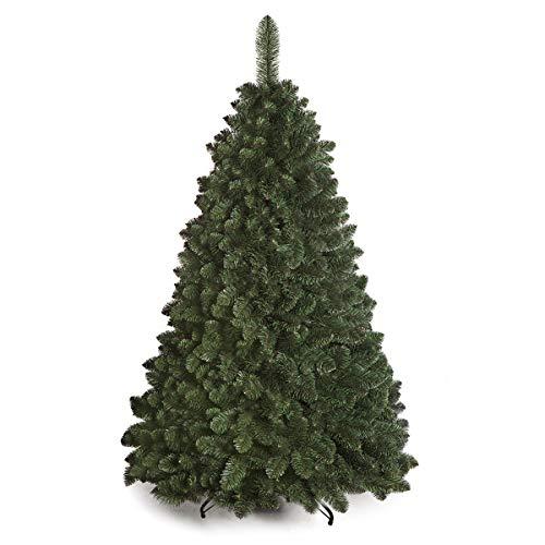 DWA ARBOL Navidad Grande en Caja, Bosque Tradicional Verde Lujo con Soporte (180 cm, Caucasian Fir)