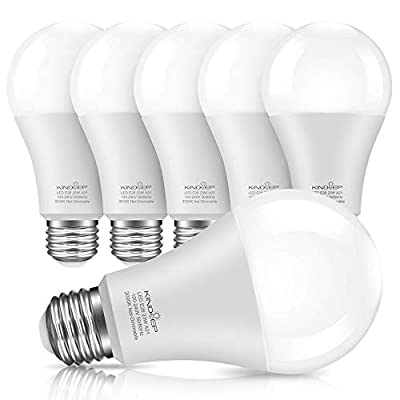 Kindeep A21 LED Bulbs, 150W-200W Equivalent, Super Bright Light Bulb, Wamr White 3000K, Non-Dimmable, E26 Base 2500 Lumens, Super Brightness LED Bulbs, 6 Pack