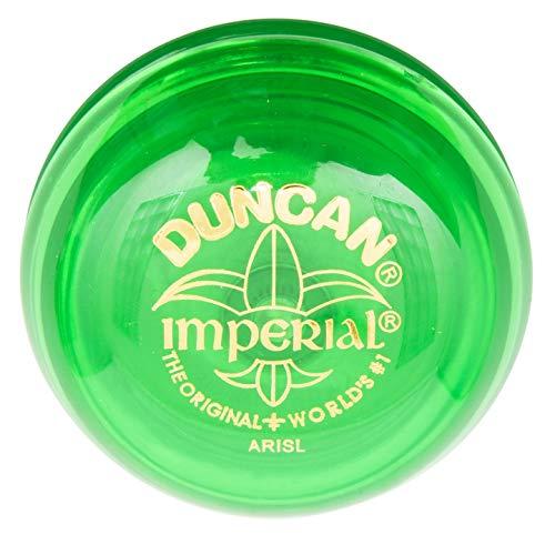 Duncan Toys Imperial Yo-Yo, Beginner Yo-Yo with String, Steel Axle and Plastic Body, Lime Green