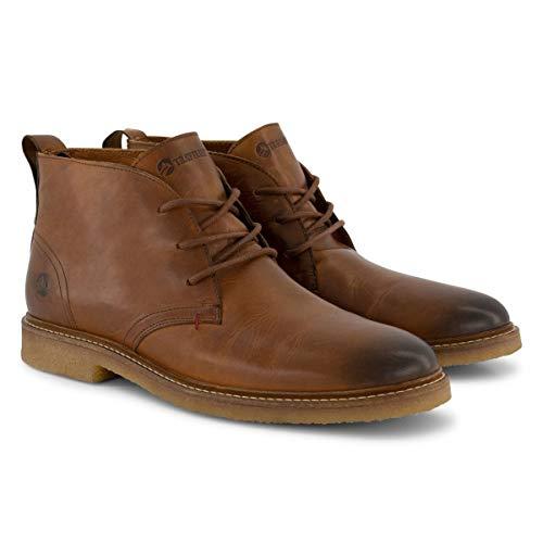 Travelin' Glasgow Chukka Boots - Herrenschuhe aus Leder - Cognac EU 46