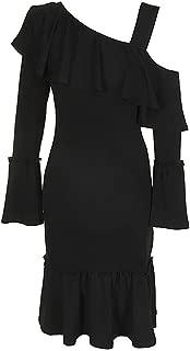 Women's One-Shoulder Flounce Dress