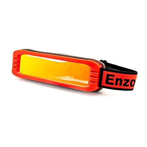EnzoDate Skibril Flexibel Breedzicht Anti-condens UV400 Snowboard Zonnebril Lichtgewicht Goed of Slecht Weer Wintersport