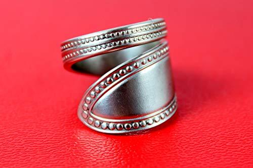 Perlmuster Besteckschmuck Ring, ca. 57 (18,2) Ring aus Besteck