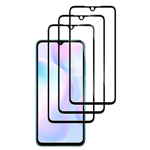 Protector de Pantalla para Xiaomi Redmi 9i, [3 Piezas] Cristal Templado Redmi 9i 3D Cobertura Completa Alta Definicion, 9H Dureza, Anti-Arañazos, Sin Burbujas, Vidrio Templado Screen Protector