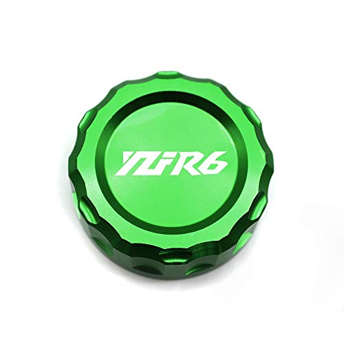 RONGLINGXING Powersports Onderdelen Motorcycle Brake Reservoir Kapje Oil Cup Cover for YAMAHA YZFR6 YZF R6 YZFR6 2006 2007 2008 2009 2010 2011 2012 2013 2014 (Color : Green)