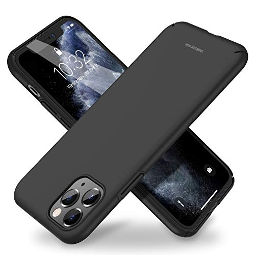 UNBREAKcable iPhone 11 Pro Hülle - Hartes PC Ultra-Flach Dünn Leicht Stylish - Handyhülle iPhone 11 Pro, Dünnes Hard Case, Cover für 5,8-Zoll iPhone 11 Pro [rutschfest, Kratzfest] - Schwarz