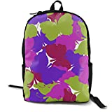 Travel Backpack Butterfly Colored Seamless Pattern Casual Rucksack Waterproof...