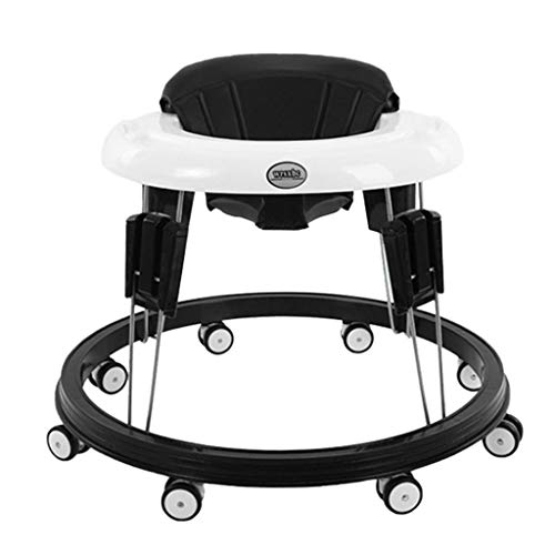 Vehpro Baby Walker, Height-Adjustable and Foldable Infant Walker with Tray and 360° Universal...