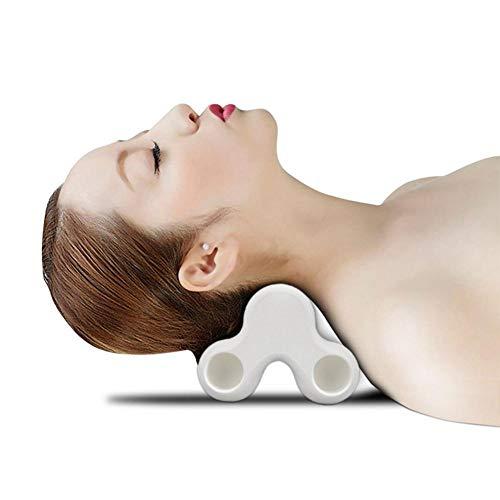Womdee Almohada De Masaje De Tracción Cervical 3T, Body Muscle Acupoint Pain Relief Massager, para Liberar La Tensión Muscular Y El Dolor De Cuello - Blanco