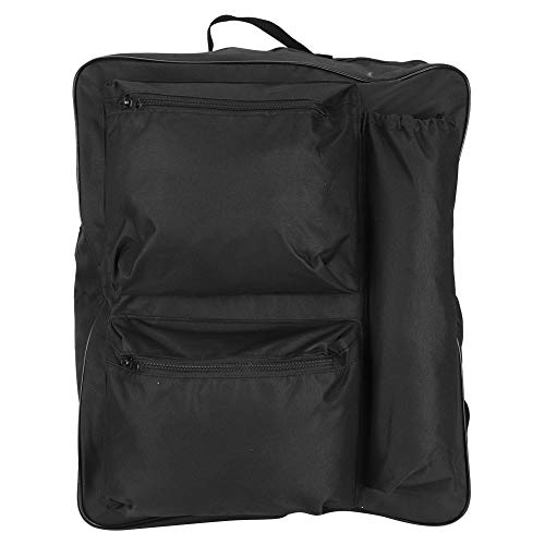 XinPengtai Bolsa de almacenamiento para silla de ruedas, 600D Oxford bolsa colgante de tela portátil de gran capacidad, impermeable, 40 x 14 x 48 cm, color negro