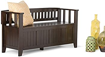 Wynden Normandy Solid Wood Entryway Storage Bench