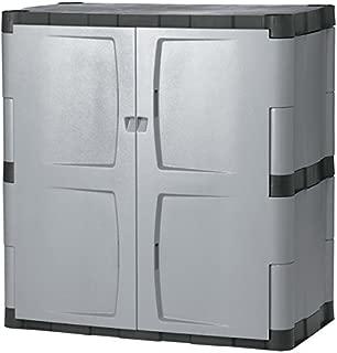 Rubbermaid Commercial Grey/Black Double-door Storage Cabinet
