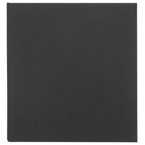 Black Extra Large Linen Traditional Ivory Page Photo Album