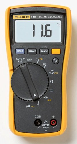 Fluke - 116CAL 116 HVAC Multimeter with Temperature and Microamps with a NIST-Traceable Calibration Certificate with Data
