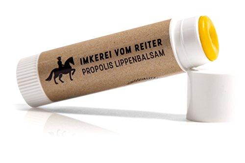 Propolis Lippenbalsam vom Reiter, 1 Stk Lippenpflegestift (6g), 100% natürliche Lippenpflege mit Bienenwachs, Olivenöl, Honig und Propolis, Hergestellt in den Bergen Österreichs, Imkerei vom Reiter
