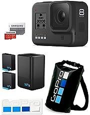 【GoPro公式限定】GoPro HERO8 Black + デュアルバッテリーチャージャー+バッテリー + 認定microSDカード32GB + 公式ストア限定非売品ドライバッグ & ステッカー 【国内正規品】