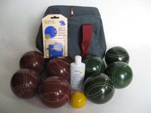 Epco Premium Quality Basic Bocce Package - 107mm Red and Green Balls, Quality Nylon Bag, meas... -  BBB-BEP107RG