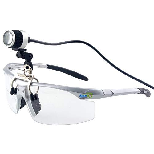 クリップ式LEDヘッドライト 充電式 1W 10時間続けて使用でき 高強度(15000-30000Lux) ヘッドライトランプ 歯科、外科、医療、家庭、デンタル用ライト 双眼ルーペなどの様々なメガネにも 製作 機械 作業 生物研究 開発 手術 歯科 医用