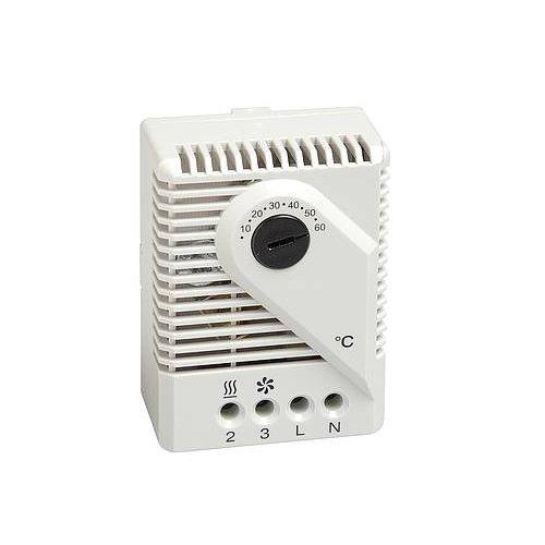 Stego 01170.0-02 Model FZK 011 Mechanische thermostaat, -20 tot +35 °C, regelingstemperatuur, 67 mm hoogte x 50 mm breedte x 38 mm lengte, 230 V AC