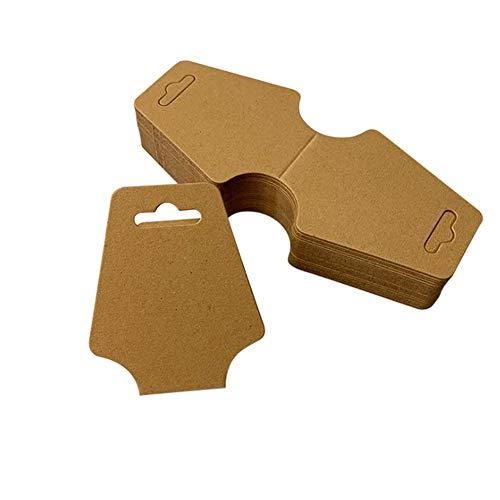 UPSTORE 100 Stück Halskette Display Karten Leere Halskette Kartenhalter Schmuckanzeige hängende Faltkarten für Halsketten Armbänder Schmuck hängen Tags 4,72 x 1,97 Zoll