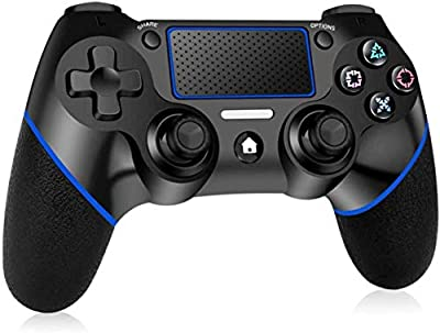 PUNWEOS Wireless PS4 Controller for Playstation 4, DualShock 4 Game Controller with Gyro/HD Dual Vibration/Touch Panel/LED Indicator Gamepad Remote Joystick for Playstation 4/Pro/Slim(Blue)