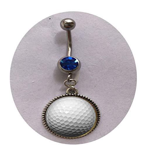 bab Bauchnabelpiercing mit Golfball-Anhänger, individuelles Geschenk für jeden Tag