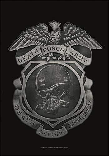 Five Finger Death Punch Black Wristband Gummy Rubber Bracelet Band Logo Official
