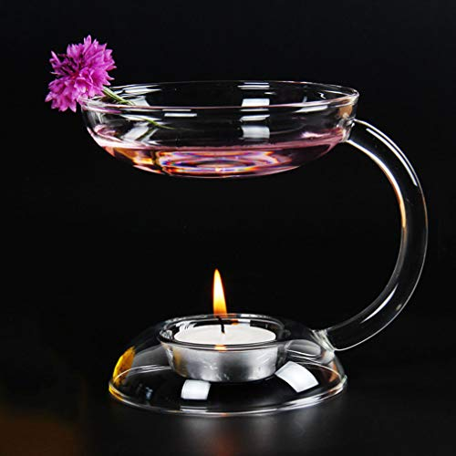 Glass Aroma Essential Oil Burners Bathroom Aromatherapy Candle Holder Oil Warmer Candlestick Home Wedding Decoration Yoga Spa Festival Gift