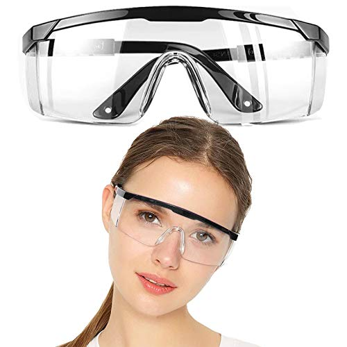 Safety Glasses, Locsee Clear Lens Safety Goggles for Welder Nurse Women Kids Personal Protective Eyewear UV Protection Equipment Standard Transparent Goggles Adult Goggle, Eyewear Protection