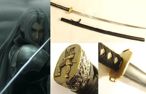 Dream2Reality Cosplay Final Fantasy 7 Sephiroth Masamune Replik Schwert mittel gekohltem Stahll Massenware Katana Schwert
