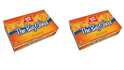 Lowest Price! Jolly Time The Big Cheez Cheddar Cheese Microwave Popcorn (24 Count (Pack of 2))