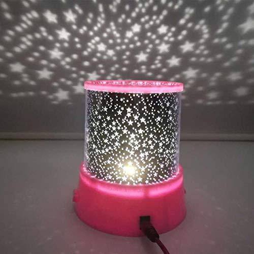 ZHEBEI Proyector de luz de noche LED cielo estrellado niños bebé sueño colorido USB lámpara de proyección