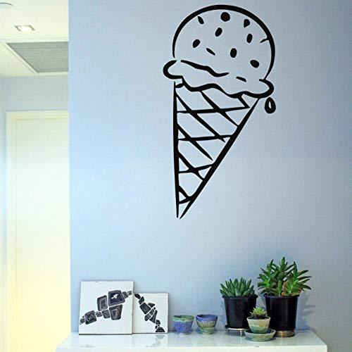 Hanzeze muursticker Ijs decoratie Art Sticker Gezond Grappig Huis Slaapkamer Decor geschenk Verwijderbare Eet Slaap Spelen Kinderen Kamer Spel 42x22cm