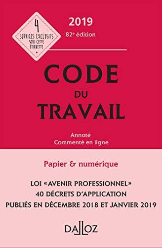 Code du travail 2019, annoté et commenté en ligne