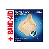 Band-Aid Brand Water Block Flex Large Adhesive Pads, 100% Waterproof Bandage Pads for First-Aid Wound Care of Minor Cuts, Scrapes & Wounds, Ultra-Flexible Design, Sterile, Large, 6 ct