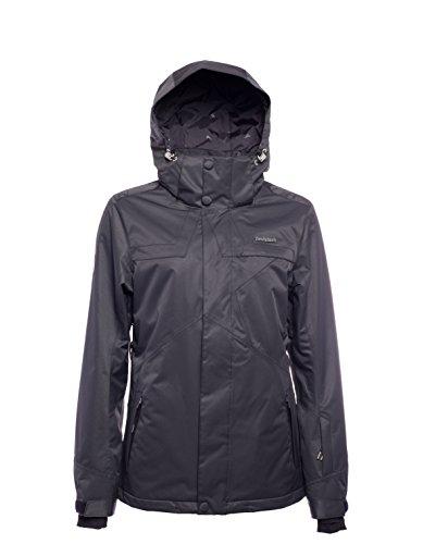 Zimtstern Damen Snowy Herringbone Snow Jacket, Black, S