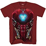 Marvel I am Iron Man Endgame Costume Armor T-Shirt(Red,Large)