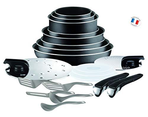 Tefal L2009702 Set de poêles et casseroles - Ingenio 5 Essential Noir Set 20 Pièces - Tous feux sauf induction