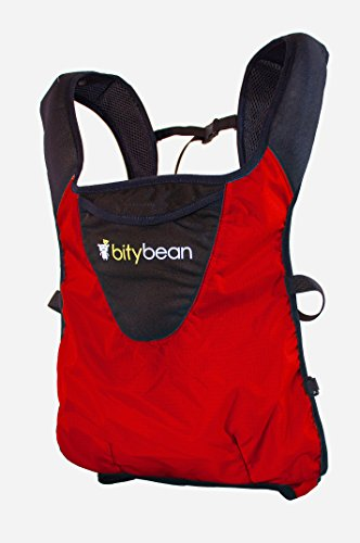 Bitybean UltraCompact Breathable Baby Carrier for Travel and Use in Pool and Ocean - RED