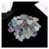 LUCHAO 100 g de Cuarzo Natural Blanco Cristal Mini Roca Mineral espécimen decoración para el hogar Colorido para Acuario curación Piedra Moda Simple (Color : Colored Fluorite)
