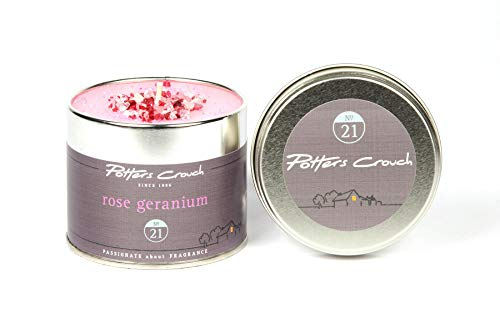 Rose géranium Bougie Tin