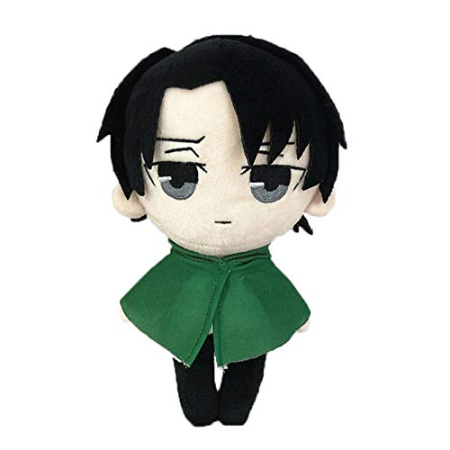 Attack on Titan Levi Ackerman Plush Toy Doll Anime Cartoon Soft Stuffed Doll Plush Pillow Toy Shingeki No Kyojin Levi Rivaille Figure Stuffed Throw Pillow Sofa Chair Decor Pillow Creative Toy Gifts