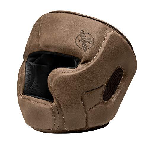 Hayabusa T3 LX Leather Adjustable MMA Headgear - Brown, One Size