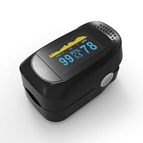 Oximetro Digital Medidor De Saturação Oxigenação No Sangue (Preto)