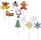 BJ-SHOP Cupcakes de Navidad Toppers Pastel de Navidad Rápido y Fácil de Montar Apto para Tartas Cupcakes Galletas Aperitivos