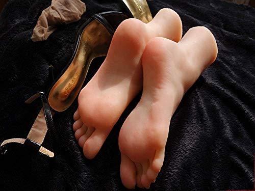 YYSDH 1 Paar Silikon Mannequin Fuß,Fußfetisch - Masturbation Fußarbeit - Fußspielzeug-Mädchenfußmodell Socke Display Art Sketch