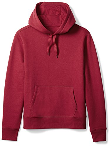 Amazon Essentials Men's Hooded Long-Sleeve Fleece Sweatshirt, Red, XX-Large